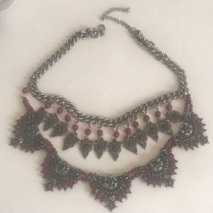 Gorgeous burgundy stones necklace!